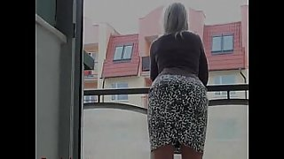 His wife on the balcony waiting for sex