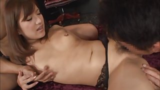 Kokone Mizutani Asian model enjoys sucking bog cock