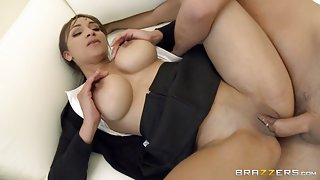 Big Tits In Uniform: Sucking Her Way Out of Expulsion. Lola James, Keiran Lee