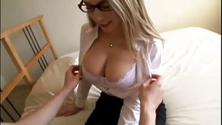 AMWF Kagney Linn Karter interracial with Asian guy