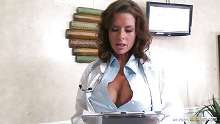 Lady in white blouse gets fucked