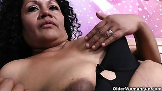 Latina milfs Sharon and Maribel need to get off after work