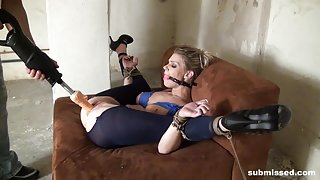Submissed.com Ball gagged and machine fucked