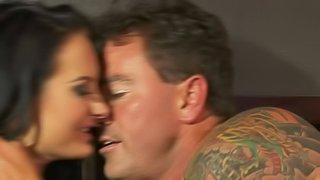 Sinfully sexy big tit brunette Alektra Blue gets mouth fucked and then takes it in her moist pussy from behind. She gets shagged doggy style with her gray bra on. Watch dream babe get slam fucked!