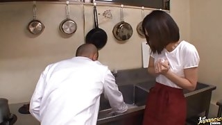 Gorgeous Housewife Takes Cock And A Creampie In The Kitchen
