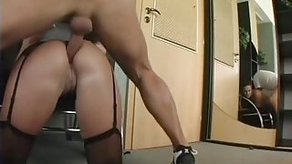 Secretary gets her ass banged
