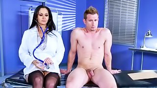 Brunette doctor is getting banged