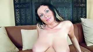 Mature temptress Pandora is proud of her big natural boobs and neatly shaved pussy. She poses naked making her eyes on camera. Her big juicy natural tits and meaty pussy will get you hot