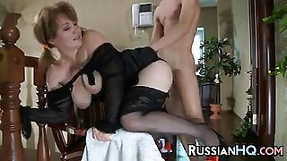 Mature Russian Fucked By Young Cock